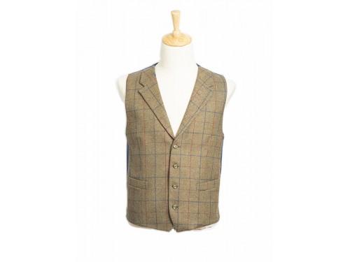 Chaleco de tweed hombre