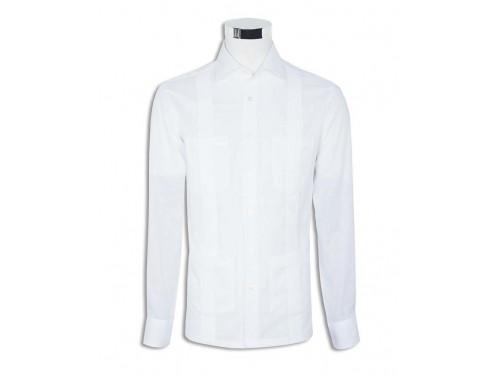 Guayabera lino blanco Mirto