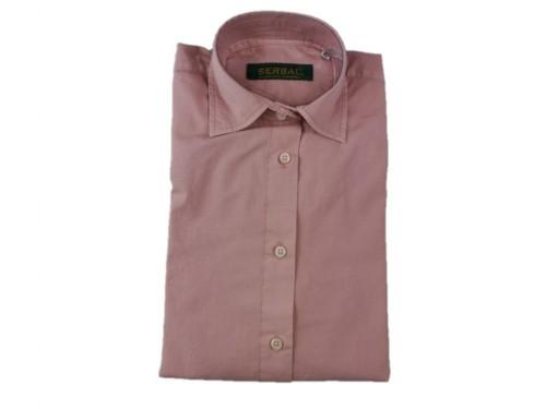 Camisa mujer algodón rosa