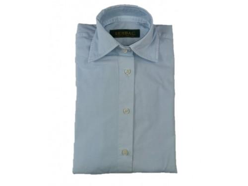 Camisa mujer algodón azul