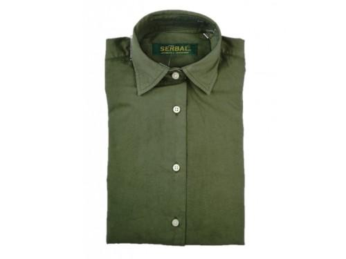 Camisa mujer algodón verde