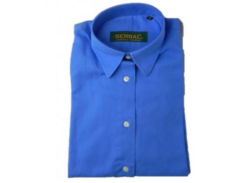 Camisa mujer primavera azul