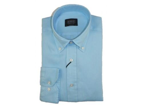 Camisa de lino celeste Mirto