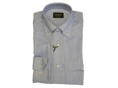 Camisa algodón azul Mirto