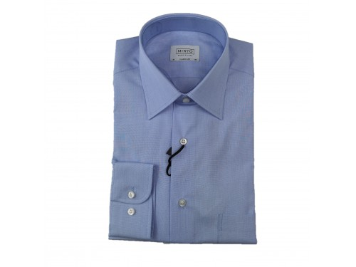 Camisa azul cuello vestir...