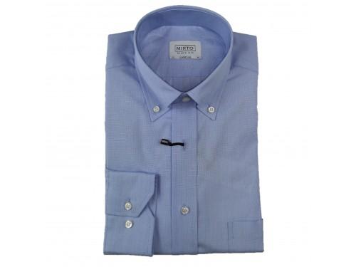 Camisa algodón azul con...