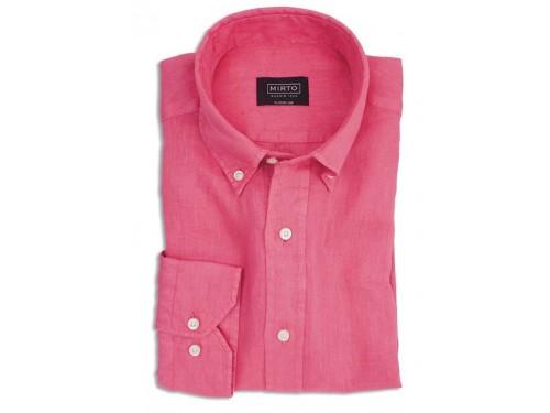 Camisa de lino fucsia Mirto