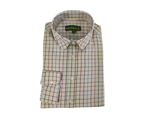Camisa cuadro algodón Serbal