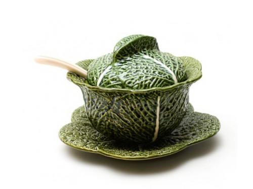 Sopera cerámica hoja de col...