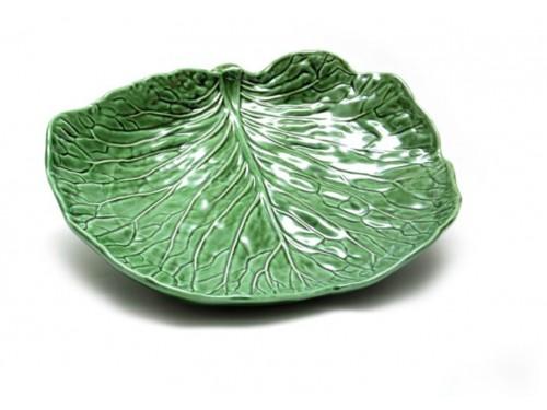 Fuente cerámica hoja de col