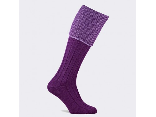 Medias de caza Chiltern purple