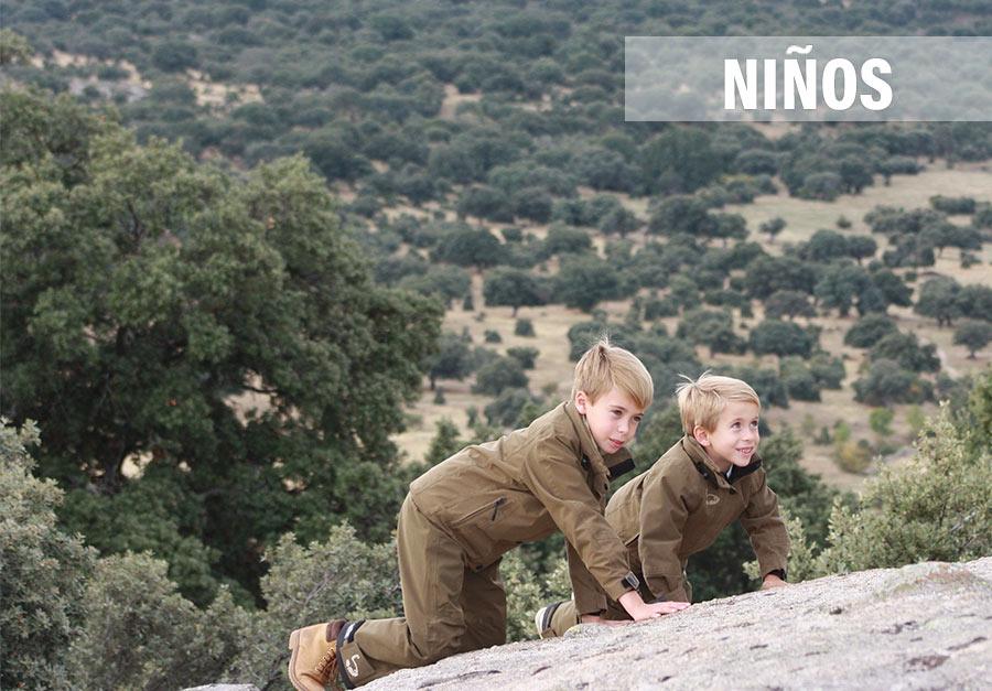 ropa de niño de caza
